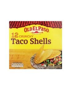 groceries: OLD EL PASO TACO SHELLS 156G!