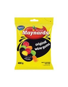 groceries: MAYNARDS GUMS 400G, ROUND WINE!