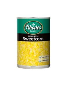 groceries: RHODES CREAM STYLE SWEETCORN  410G!