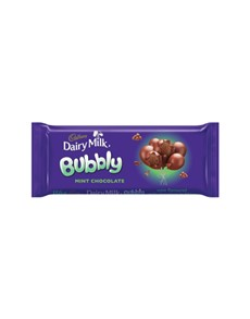 groceries: CADBURY BUBBLY SLAB 150G, BUBBLY MINT!