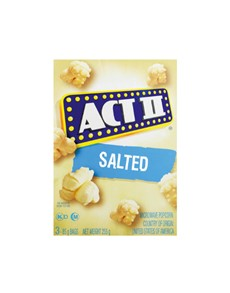 groceries: ACT 11 MICRO POPCORN 3 PK 242G, SALTED!