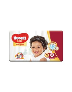 groceries: HUGGIES UNISEX GOLD NAPPIES, SIZE 4 66S!