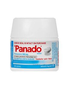 groceries: PANADO HEADACHE TABLETS 24S!