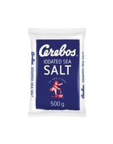 groceries: CEREBOS TABLE SALT POLY 500G!