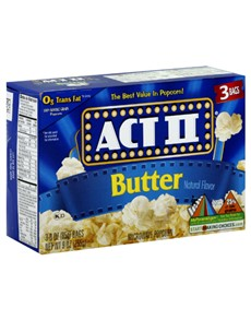 groceries: ACT 11 MICRO POPCORN 3 PK 242G, BUTTER!