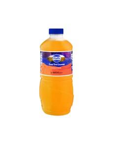 groceries: HALLS FRUIT DRINK 1.25LT, ORANGE!