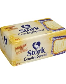 groceries: STORK 40 Percent FAT SPREAD BRICK 500G!