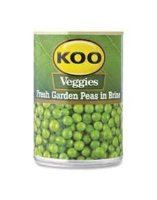 groceries: KOO TND PEAS IBRINE 400G, FGARDEN!