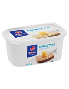 groceries: CLOVER FARMSTYLE BUTTER SALTED 500G!