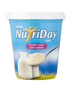groceries: NUTRIDAY DOUBLE CREAM YOGHURT 1KG, PLAIN!