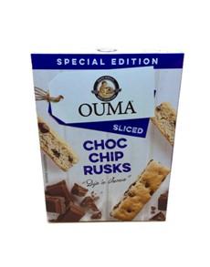 groceries: OUMA RUSKS SLICED 450G, CHOC CHIP!