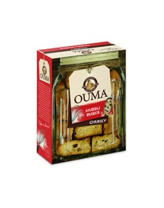 groceries: Ouma Bun Rusks 500G, Muesli!