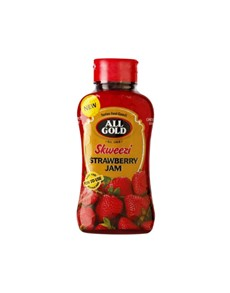 groceries: All Gold Skweezi Jam 460G, Strawberry!
