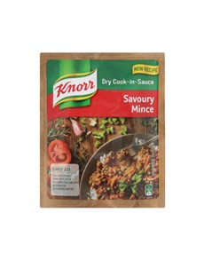 groceries: Knorr Cook In Sauce 48G, Savoury Mince!