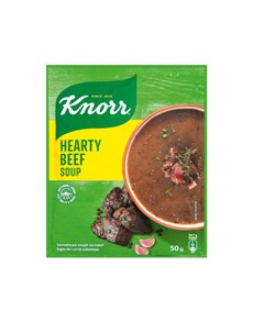 groceries: Knorr Packet Soup 50G, Hearty Beef!