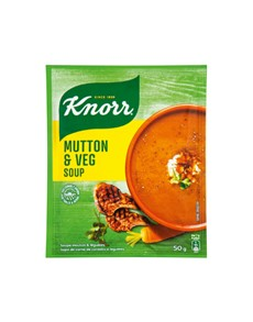 groceries: Knorr Packet Soup 50G, Mutton & Veg!