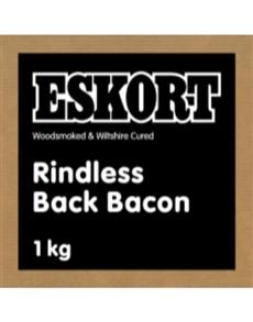groceries: Eskort Rindless Back Bacon 1Kg!