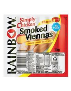 groceries: Rainbow SChicken Viennas 1Kg, Cheese!