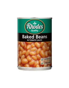 groceries: Rhodes Baked Beans In Tomato Sauce 410G!