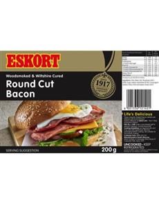 groceries: Eskort Round Cut Bacon 200G!