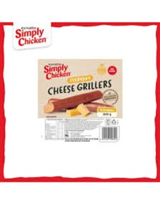 groceries: Simply Chicken Grillers 325G, Cheese!
