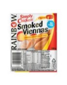 groceries: Rainbow SChicken Viennas 500G, Cheese!
