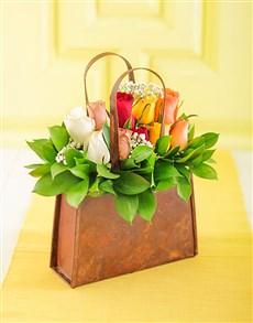 flowers: Handbag of Mixed Roses!