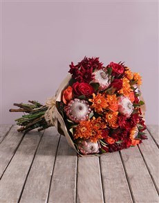 flowers: Autumnal Bouquet of Mixed Flowers!