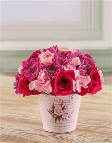 flowers: Mixed Pink Arrangement!