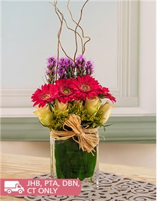 flowers: Gerbera, Cream Rose and Mixed Flowers!