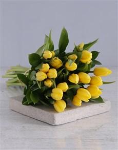 flowers: Yellow Tulip Bouquet!