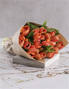 flowers: OrangeTulip Bouquet!