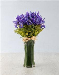 flowers: Iris & Golden Rod in a Vase!