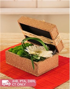 flowers: Gerbera and Sprays in a Wooden Box!