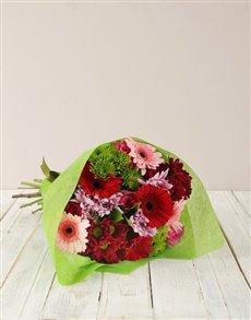 flowers: Pink Gerbera & Rose Bouquet!