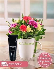flowers: Mini Mixed Carnations in a Mug!