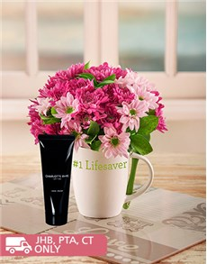 flowers: Mixed Pink Sprays in a Mug!