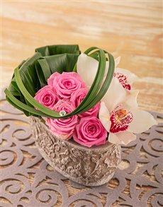 flowers: Edith Venter Pink Passion Flower Arrangement!