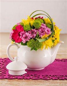 flowers: Edith Venter Tea for two Flower Pot!