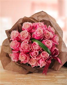 flowers: Edith Venter Pink Ethiopian Rose Bouquet!