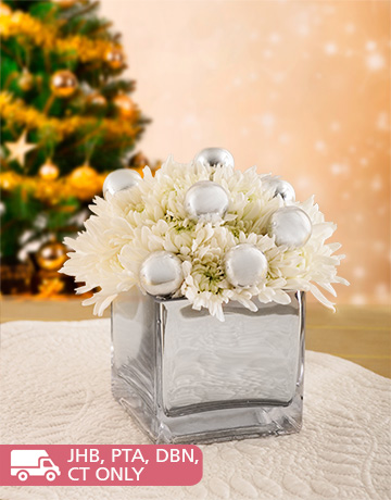 flowers: White and Silver Christmas Arrangement!
