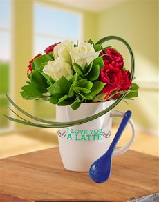 I Love You a Latte Flower Mug