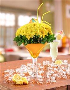 flowers: Golden Dawn Flower Cocktail!