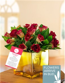 flowers: Golden Abracadabra Rose Arrangement !