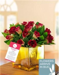 flowers: Golden Abracadabra Rose Arrangement !