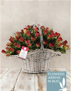flowers: Enchanting Rose Basket!