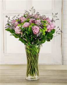 flowers: Light Purple Temptation Arrangement!
