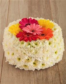 flowers: Gerbera Luscious Flower Cake!
