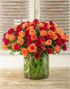 flowers: Tangerine Dream Arrangement!