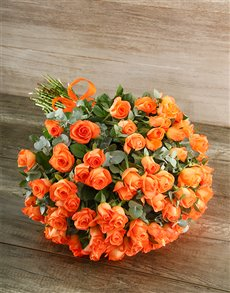 flowers: Orange Warmth Bouquet!